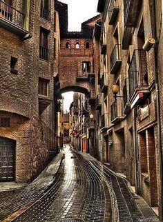 Una calle de Huesca.