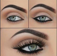 Make up for grey eyes