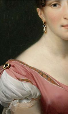 Portrait of Queen Hortense de Beauharnais,  Anne Louis Girodet-Trioson 1808, detail