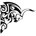 Bull tattoo with tribal patterns – taurus constellation tattoo Ox Tattoo, Bull Tattoos, Taurus Tattoos, Calf Tattoo, Chest Tattoo, Tattoo Drawings, Body Art Tattoos, Tattoo Art, Tatoos