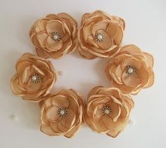 Cinnamon Weding Hair clip Shoes clasp Cake topper by ZBaccessory, $30.00