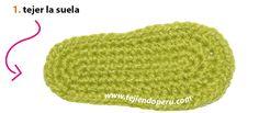 Botitas con ondas bebe (wiggle crochet booties) - Tejiendo Perú Knitted Hats, Crochet Hats, All Free Crochet, Beanie, Baby Booties, Knitting, Crochet Baby Shoes, Slippers, Crochet Boots