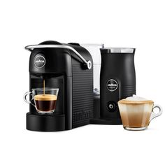 Designed by Lavazza Coffee, the Lavazza Jolie and Milk black coffee machine is the perfect gift to give this Christmas or for birthdays and other special occasions, and is the quietest coffee machine in the category 43db. Designed with a facility to froth milk while brewing coffee, this coffee machine features preset and programmable coffee options and hot and cold milk options. Including an auto switch off for the milk frother and an energy saving auto switch off after nine minutes of non… Espresso Machine Reviews, Espresso Coffee Machine, Cappuccino Machine, Coffee Maker, Coffee Machine Design, Cappuccino Coffee, Coffee Varieties, Coffee Blog, Blended Coffee