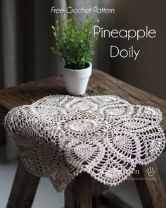 Written & chart pattern to crochet this beautiful puff stitch Pineapple Doily. Puff stitch design gives the pineapple doily an exquisite texture.  - Page 2 of 2