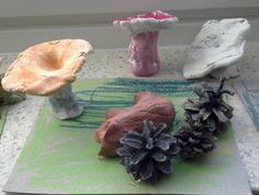 Syksyisiä sieniä (2.lk) Science Art, Science And Nature, Mushrooms, Natural, Painting, Painting Art, Paintings, Science And Nature Books, Painted Canvas