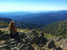 Gabrielle Simard-Moore 'Watching the World Go By,' in Snowy Mountains, Australia during a Fall 2013 semester at the University of Technology in Sydney #newpaltz #newpaltzabroad