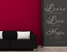 Learn, Live, Hope - Wall Decals / Wall Quotes - WORDS & QUOTES