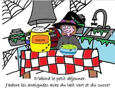 Story to read to class One sentence per picture slide, describing the daily school life of a young witch at school With native speaker audio on each slide French For Beginners, Story Of The World, Reading Stories, School Life, Languages, Sentences, Witch, Audio, Comics