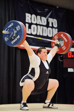 Sarah Robles successfully snatches 114 kilograms during the 2012 U.S. Olympic Team Trials for Women's Weightlifting on March 4, 2012 in Columbus, Ohio.