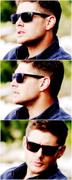 [gifset] Spoilers Looking hot in shades! 10x04 Paper Moon #SPN #Dean