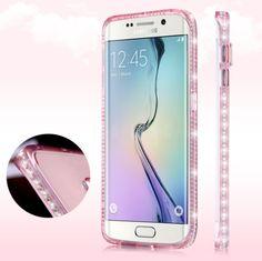 69222c2375e Samsung S7 edge Bling Diamond Clear Case For Samsung Galaxy S6 EDge S7 Edge  Colorful Soft