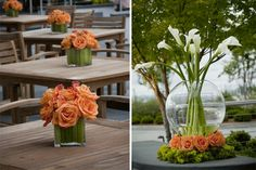 With a variety of colors, shapes and textures, the possibilities for floral designs are practically endless. These examples will bloom visions of the perfect bouquet, boutonniere, centerpiece and more.