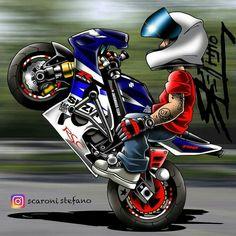 Joker Wallpapers, Cute Cartoon Wallpapers, Animes Wallpapers, Car Drawings, Cartoon Drawings, Motorbike Drawing, Dibujos Pin Up, Motorcross Bike, Jdm Wallpaper