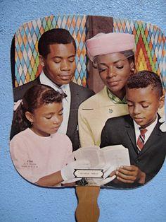 Black Church Art Vintage Fans