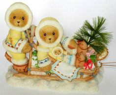 Heidi´s Cherished Teddies Galerie: NATASHA, MICHEL and KITTY - On A Journey To Joy And Peace & Sharing The Season Of Joy Together (118391)