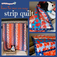 A strip quilt is a great project for beginning quilters. In this tutorial I'll show you how to make a striped baby blanket from start to finish.