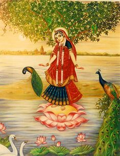 Radha Painting - Beautiful Radha by Alexandra Bilbija Lord Krishna Wallpapers, Radha Krishna Wallpaper, Lord Krishna Images, Radha Krishna Pictures, Radha Krishna Photo, Krishna Art, Hare Krishna, Krishna Leela, Pichwai Paintings
