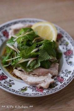 三つ葉とミョウガのさっぱりレモン鶏|レシピブログ