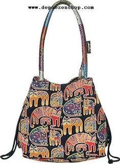 Smart Looking Cat Lover S Purse Features The Fantastic Felines Design From Laurel Burch Por Has Been Woven Into A Warm Tapestry