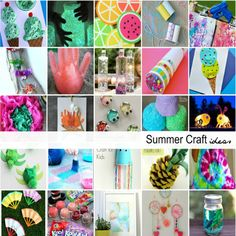 These Summer Craft Ideas for Kids are sure to spark some creativity and cure the summer boredom.