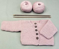 Baby Cardigan Making erzählt und illustriert - Farbe Site Baby Knitting Patterns, Baby Cardigan Knitting Pattern, Knitted Baby Cardigan, Knit Baby Sweaters, Knitting For Kids, Baby Patterns, Crochet Baby Jacket, Knit Jacket, Weaving