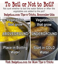 Tips-n-Tricks- Cold or Hot water for starting vegetables & WHY you should do it this way!