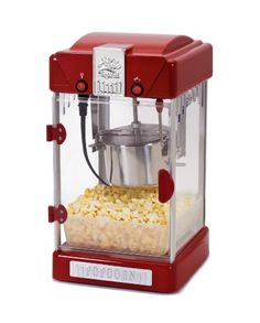 Be a 'pop' star with the Classic 2.5 oz. Tabletop Kettle Popcorn Maker traditional hot oil kettle popcorn popper by Elite. The 2.5 oz. stainless steel kettle makes up to 1 gallon of popcorn per batch in just 5 minutes to share with friends and family. It comes with a warming light to keep