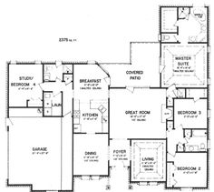 House Plans With Office Off Master on design ideas likewise small offices layouts floor plan open