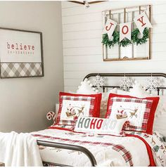 This darling guest room styled by is so sweet. Shes added several items from Our Believe In Kindness. Interior Decorating, Interior Design, Farmhouse Chic, Fashion Room, Fixer Upper, Cottage Style, Rustic Decor, Guest Room, Fall Decor