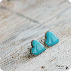 Blue Blue Heart Earrings