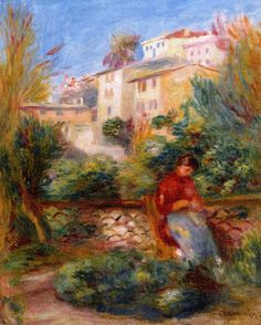Pierre Auguste Renoir (1841-1919) - The Terrace at Cagnes - 1908c  - Private Collection