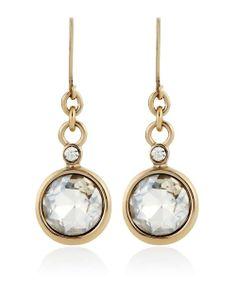 Gold Crystal Drop Earring