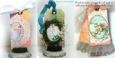 Pretty Easter Tag Ideas using Crafty Secrets Printable Vintage Eggs