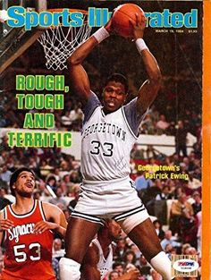 Patrick Ewing Autographed Signed Magazine Georgetown