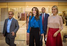 ♔♛Queen Rania of Jordan♔♛...With Ziad and Victoria Al Manaseer at the Igor Moiseyev event