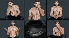 https://flic.kr/p/KB5aqZ | NEW - shi.s.poses BENTO male #7-11 - shape included | Hey guys... it's time for new poses. shi.s.poses BENTO male #7-11 The shape is included. You can check this inworld.  Taxi Facebook & MP