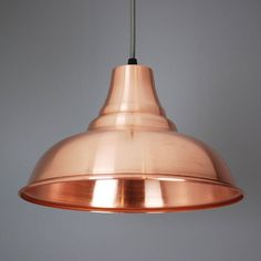 copper hand spun pendant lampshade by quirk | notonthehighstreet.com