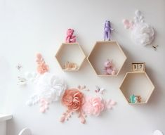 White and pink paper flowers for nursery wall decor - Nursery paper flowers - Girl room paper flowers - Over the Crib Paper Flower Set Dining Room Wall Decor, Nursery Wall Decor, Baby Room Decor, Girl Nursery, Nursery Ideas, Girl Room, Giant Flowers, Paper Flowers, Flower Wall Decor