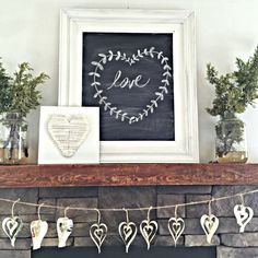 Make Heart Garland From Old Books