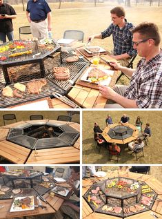 JAG Grill is a Grill, Fire-Pit, & Table. It's the ultimate social BBQ experience. Fire Pit Grill, Bbq Grill, Grilling, Barbecue Party, Picnic Blanket, Outdoor Blanket, Grill Table, Fire Pit Table, Backyard Bbq