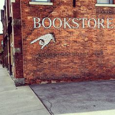 """I love this sign. It's like pointing me to my destiny. #bookstore"""