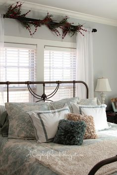 There's No Place Like Home for the Holidays! {Christmas Home Tour – 2013} – Ellis Jean Design Co, Christmas decor, master bedroom, bedroom, bedding, simple Christmas decor