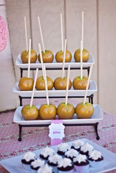 Candy apples. Would be cute with mini apples!