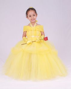 Tutu Dress  Yellow  Princess Belle  12 by Cutiepatootiedesignz, $115.00. Oh. My God. I want this in adult size. I <3 Belle!