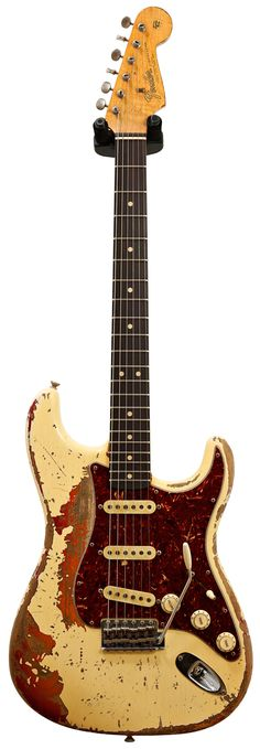 Fender Custom Shop 1964 Strat Ultimate Relic Vintage White over Cherry Sunburst Master Built by Jason Smith #R870363