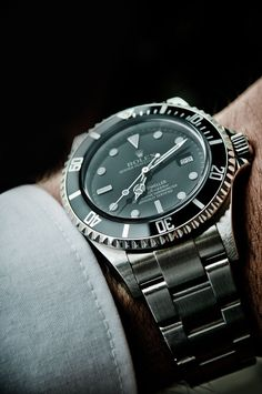 #Rolex #Sea_Dweller 16600 - Black Dial, Stainless Steel and Oyster Bracelet #swisswatchdealers – It can be taken to depths of 4,000 feet!