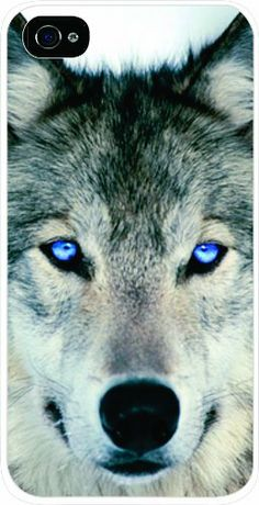 This Blue Eyed Wolf iPhone Case is a perfect affordable and beautiful gift and accessory to protect an iPhone. This cover is durable and lightweight and has a white frame around the image, Black frame around the camera and white sides. The image is vibrant and eyecatching. (Disclaimer: All images are printed onto the  case - The Texture of this iphone case is a flat smooth surface. images that appears to be 3d, textured, or glittery are flat printed.)