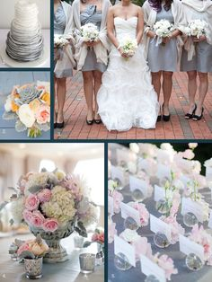glacier gray wedding | Glacier gray is soft and romantic. It is important to mix with pops of ...