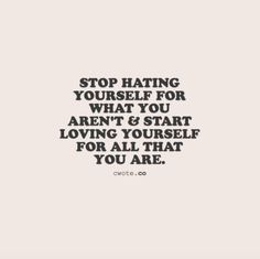4fitnesssake:Love yourself for what you are because you are...