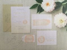 Florals with invites?